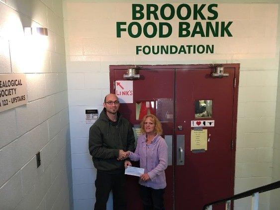 2016 Brooks food bank cheque presentation
