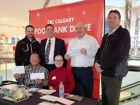 2016 Calgary food bank cheque presentation