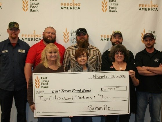 2016 East Texas Christmas Food Bank donation