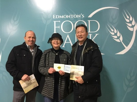 2016 Edmonton Christmas Food Bank donation