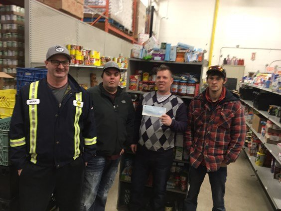 2016 Fort McMurray Christmas Food Bank donation