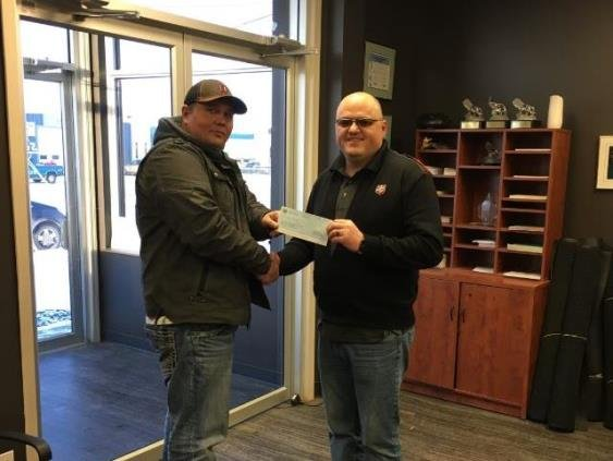 2016 Fort St. John Christmas Food Bank donation