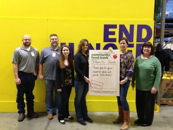 2016 Pittsburgh Christmas Food Bank donation
