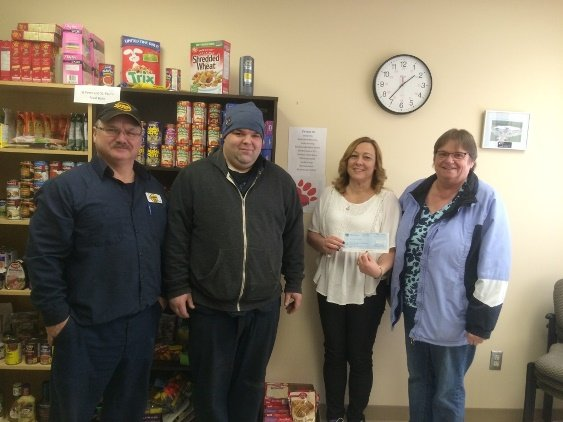 2016 Rainbow Lake Christmas Food Bank donation