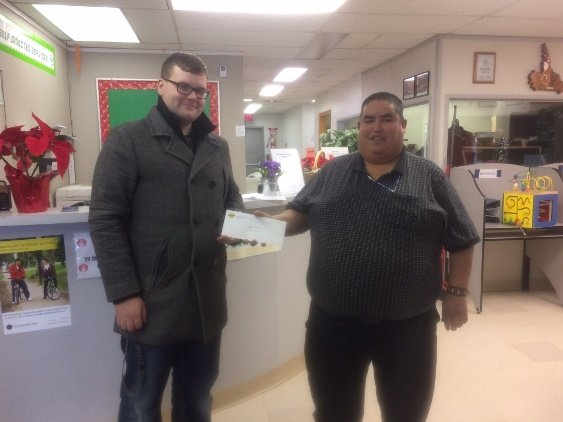 2016 Slave Lake Christmas Food Bank donation